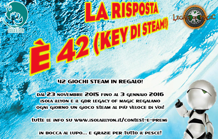 La risposta è 42 key di Steam Isola Illyon