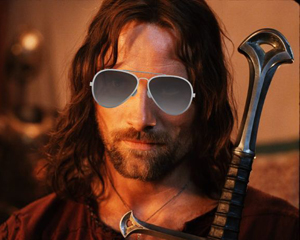 One does not simply wear ray ban into Mordor