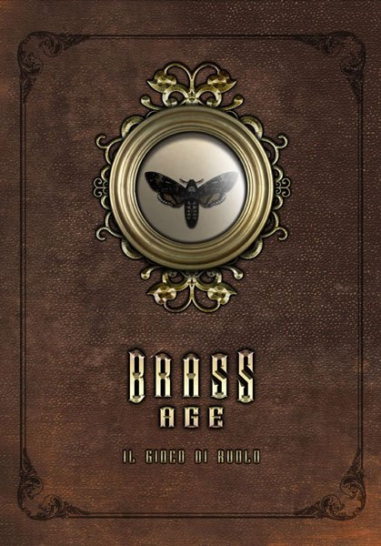 La copertina del Manuale di Brass Age in tutto il suo splendore vittoriano!