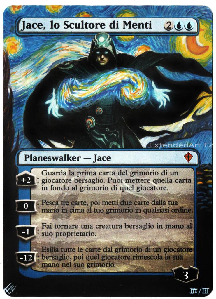 Jace, lo Scultore di Menti versione Notte stellata di Van Gogh