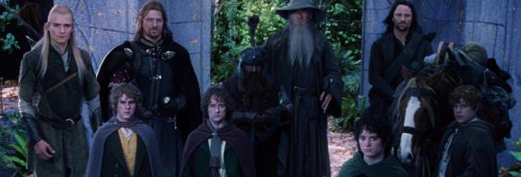 still-of-sean-astin,-sean-bean,-elijah-wood,-viggo-mortensen,-ian-mckellen,-orlando-bloom,-billy-boyd-and-dominic-monaghan-in-the-lord-of-the-rings -the-fellowship-of-the-ring-(2001)-large-picture