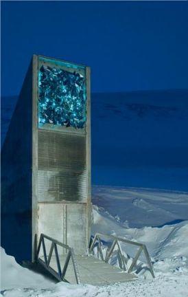 Il vero ingresso del Global Seeds Vault, alle Isole Svalbard