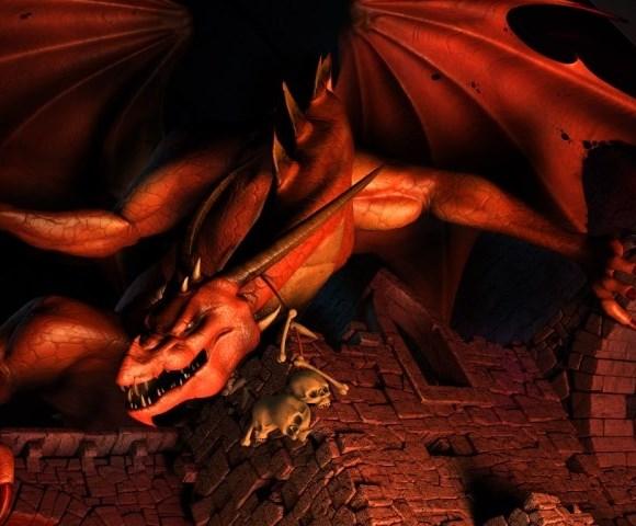 il grande dragone rosso di cui sopra nello studio del dentista che gli ha appena mostrato le pinze XD