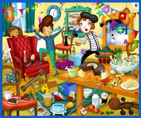 Una delle bellissime illustrazioni che caratterizzano Kaleidos Junior!