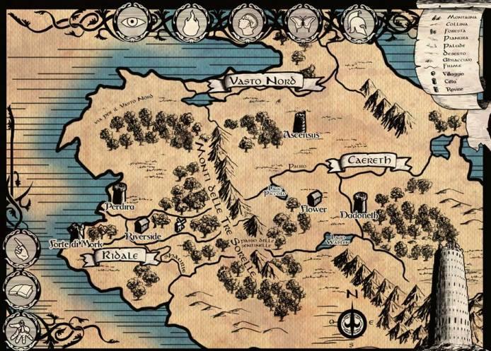 Una mappa dell'ambientazione, dal concept della stessa Laura Safino