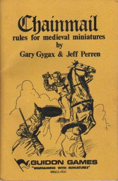 Chianmail, la copertina del gioco a cui sarebbe arrivato Gygax dopo anni e anni di gioco.