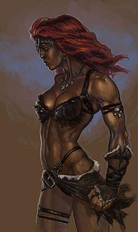 La Potente Gudrun. Chainmail bikini al suo apice.