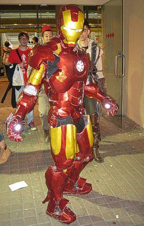 Il vincitore del cosplay maschile. La foto, credetemi, non gli rende giustizia