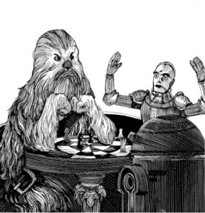 As it is said: black holes are worth thy fear,/ But fear thou more a Wookiee's deadly wrath.