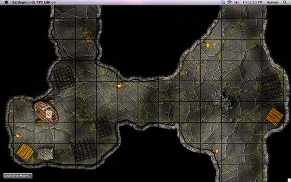 Mappa composta con tiles free su Battlegrounds RPG (tutti i diritti riservati)