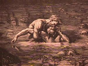 Il Conte Ugolino e Ruggeri degli Ubaldini, incisione di Gustav Doré (particolare). Ricorda qualcosa?