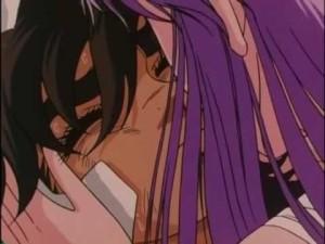 saint seiya romance saori kiss