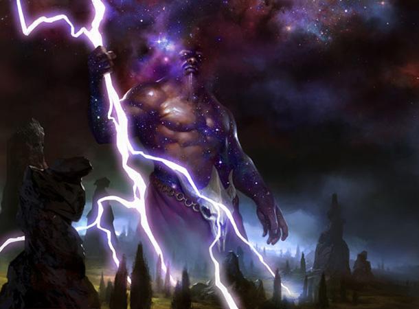Keranos, Dio delle Tempeste | Artwork di Daarken