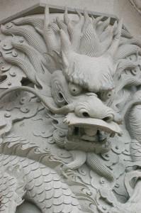Il drago cinese è simbolo di bontà, forza, virilità.