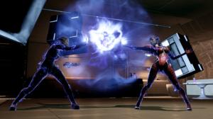 Samara e Morinth si affrontano con i loro poteri biotici.