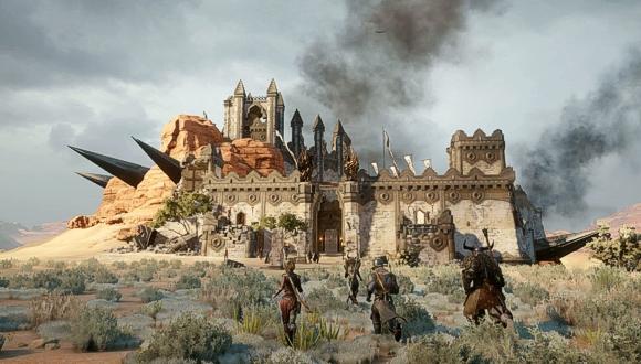 I PG corrono al riparo di una delle fortezze di cui sopra (Copyright 2014 EA International