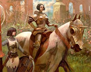 Non esiste sessismo nella gerarchia degli ordini dei paladini poiché a contare sono soltanto la devozione al bene - in tutte le sue forme - e la lealtà al codice cavalleresco.