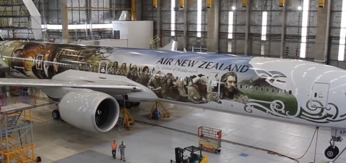 New Zealand Airlines Hobbit