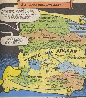 Come in ogni fantasy che si rispetti, non poteva mancare la mappa...