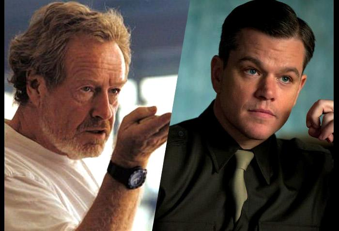 ridley Scott & Matt damon