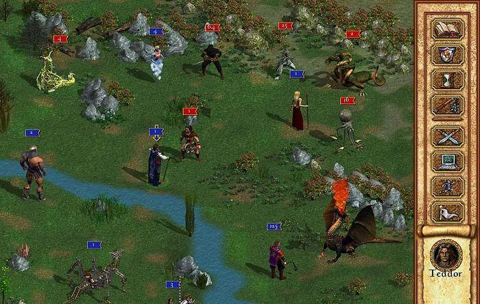 In HoMM 4 la visuale della battaglia vira in isometrica e anche l'eroe può partecipare fisicamente alla rissa