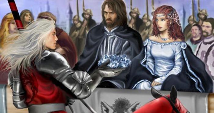 Rhaegar Targaryen incorona Lyanna Stark Regina di Amore e Bellezza. © M. Luisa Giliberti