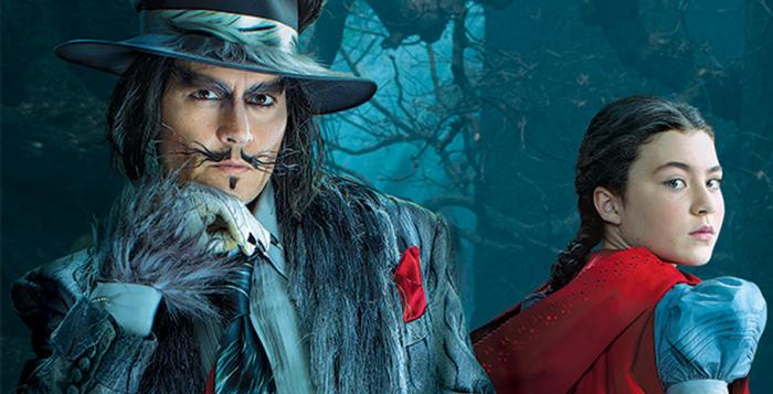 Il lupo cattivo e Cappuccetto Rosso, rispettivamente Jhonny Depp e la bravissima Lilla Crawford.