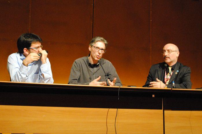 """La seguitissima conferenza di Leo Ortolani in Sala Gialla dal titolo """"La Fine del Topo""""."""
