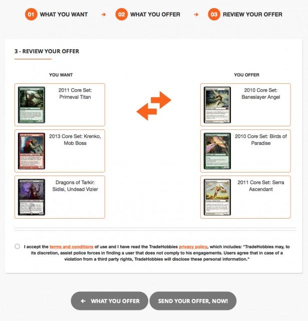 Questa è la schermata che vi troverete davanti una volta scelte le carte.