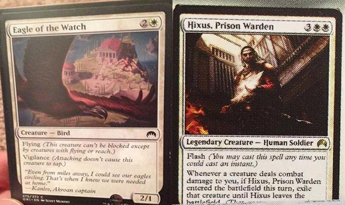 Ecco i primi due spoiler di Magic Origins: Eagle of the Watch e Hixus, Prison Warden!