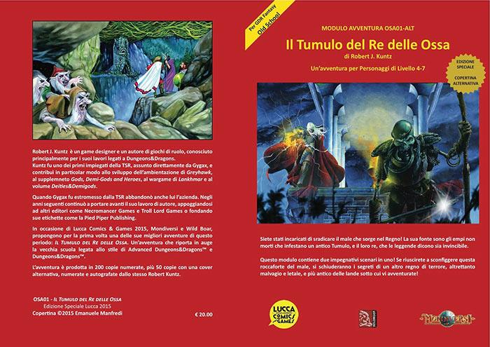 Avventura Tumulo del re delle ossa in tiratura limitata al Lucca Comics