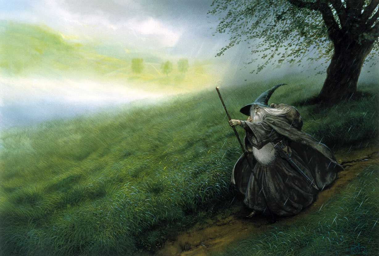 John Howe's image of Gandalf