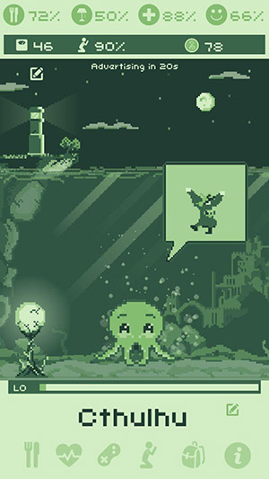 cthulhu virtual pet happy