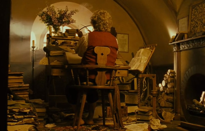 Tolkien-Hobbit-Bilbo-Baggins-writes1