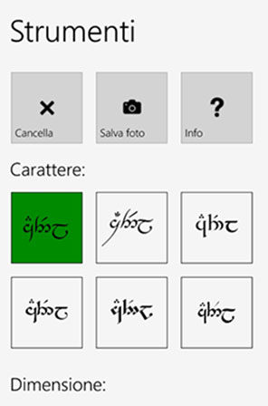 Tengwar Touch language