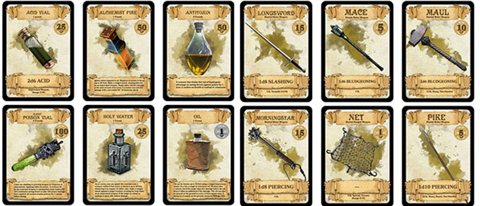 carte-equipaggiamento-dungeons-&-dragons